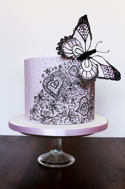 Purple Butterfly Celebration Cake