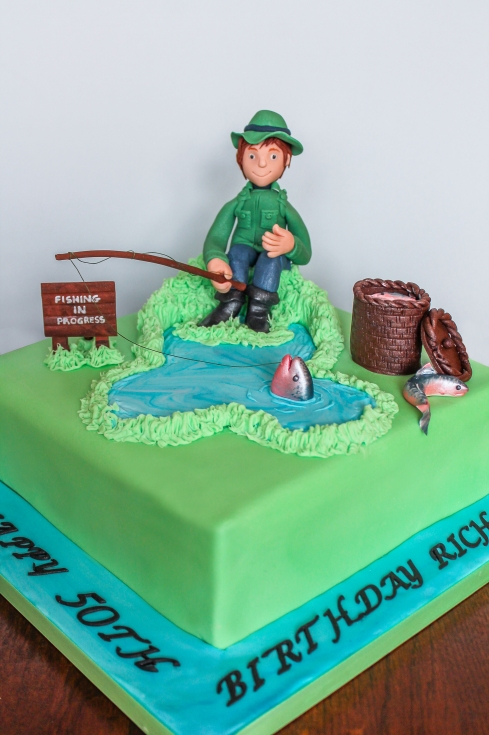 Fishing Man Birthday Cake