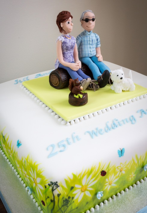 Ramblers 25th Wedding Anniversary Cake