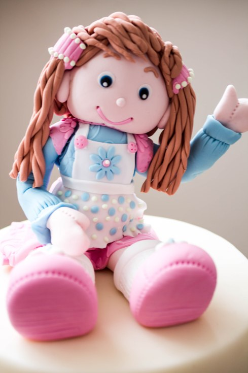 Rag doll cake topper suitable for a little girls cake